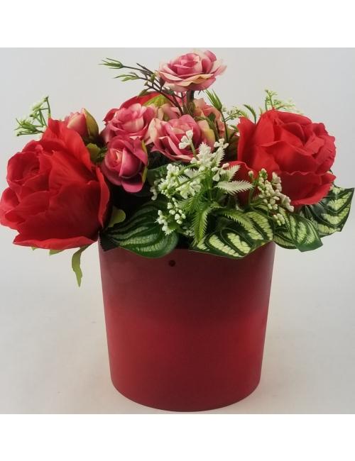 Aranjament floral matase F51