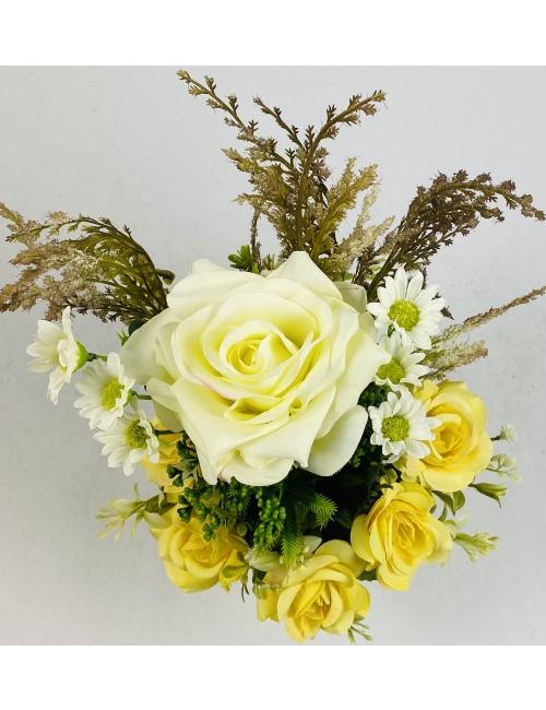 Aranjament floral matase F40